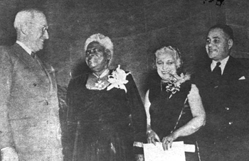 Mary McLeod Bethune awarded citation from Harry S. Truman (1949)