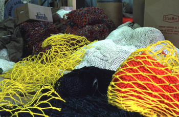 Piled up fishing nets: Fernandina Beach, Florida (not after 1980)