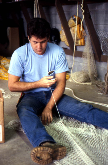 Net maker Joe Floyd in his shop: Jacksonville, Florida (1985)