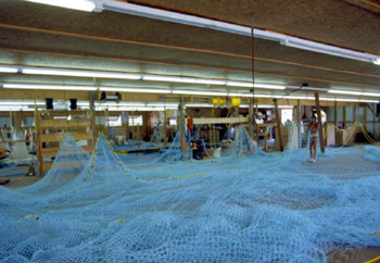 Making of a trawl at Burbank Trawl Makers: Fernandina Beach, Florida (1982)