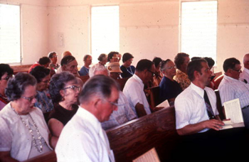 Sacred Harp singing by congregation of the Bethlehem Primitive Baptist Church: Old Chicora, Florida (not after 1978)