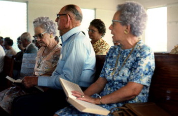 Sacred Harp singing by members of the Bethlehem Primitive Baptist Church congregation: Old Chicora, Florida (not after 1978)