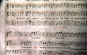 &quot;The Goodly Land&quot; from a revised copy of the &quot;Sacred Harp&quot; by W.M. Cooper: Old Chicora, Florida  (not after 1979)