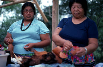 Seminole women starting to make dolls: Big Cypress Seminole Indian Reservation (not after 1980)