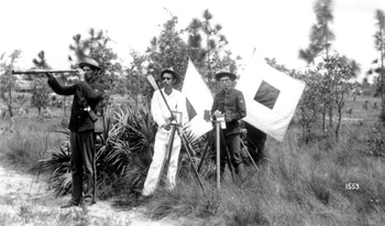 Army signal corps soldiers during the Spanish-American war (1898)