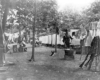 Spanish-American war camp scene: Tampa, Florida  (1898)