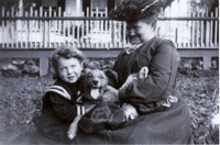 Child, Dog, Woman, Enjoying Each Other's Company Then