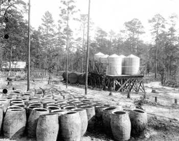 Turpentine storage tanks at still (191-?)