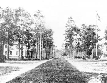 View of the Robert Hungerford Normal and Industrial School campus: Eatonville, Florida (19--)