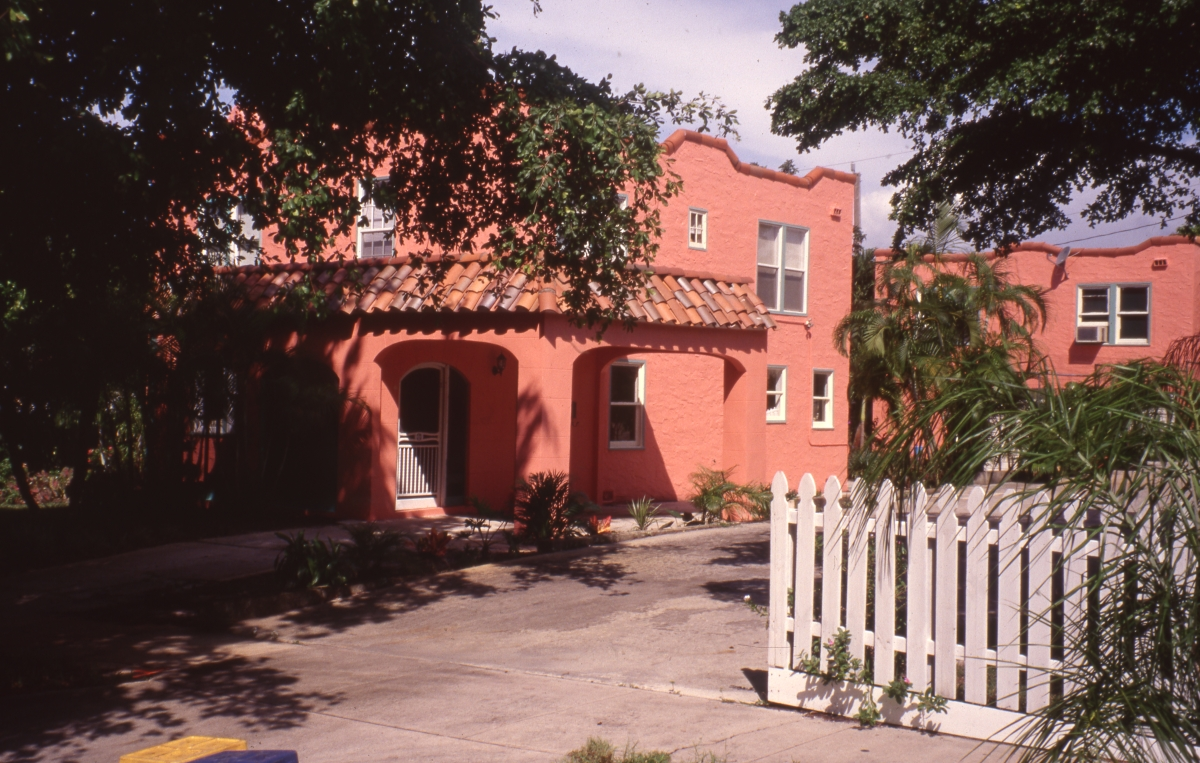 George and Emma Shelton house in the Flamingo Park Historic Residential District of West Palm Beach.