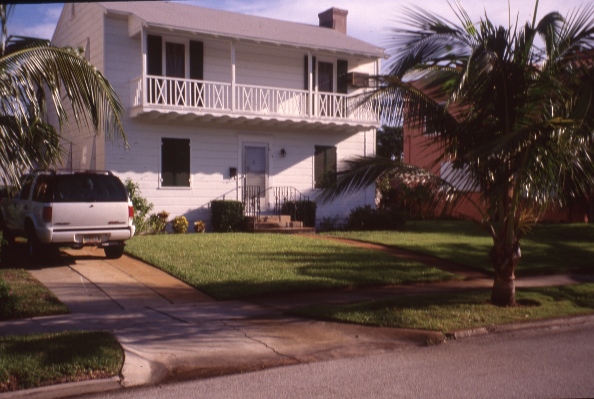 Two-story house in the Flamingo Park Historic Residential District of West Palm Beach.