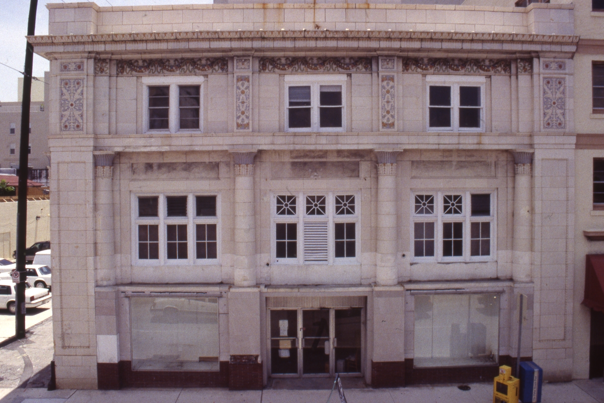 Photographs of the American National Bank Building in West Palm Beach.