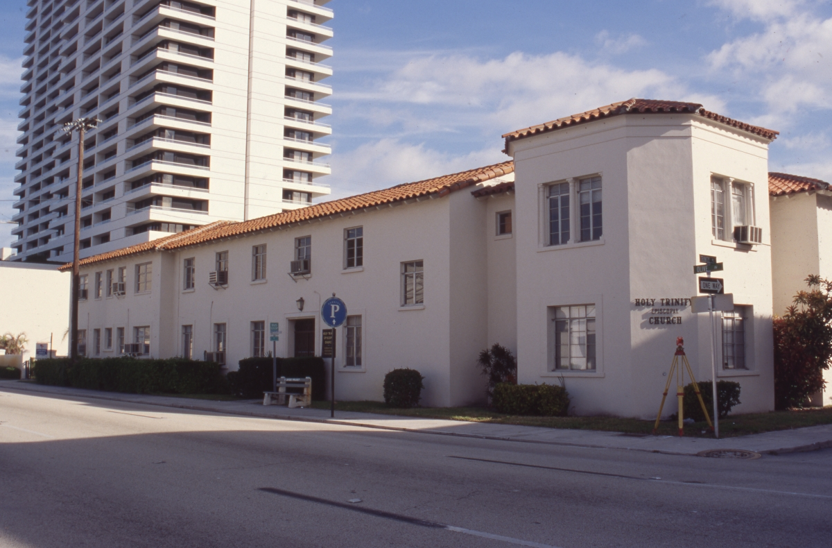 Photographs of the Holy Trinity Episcopal Church complex in West Palm Beach.