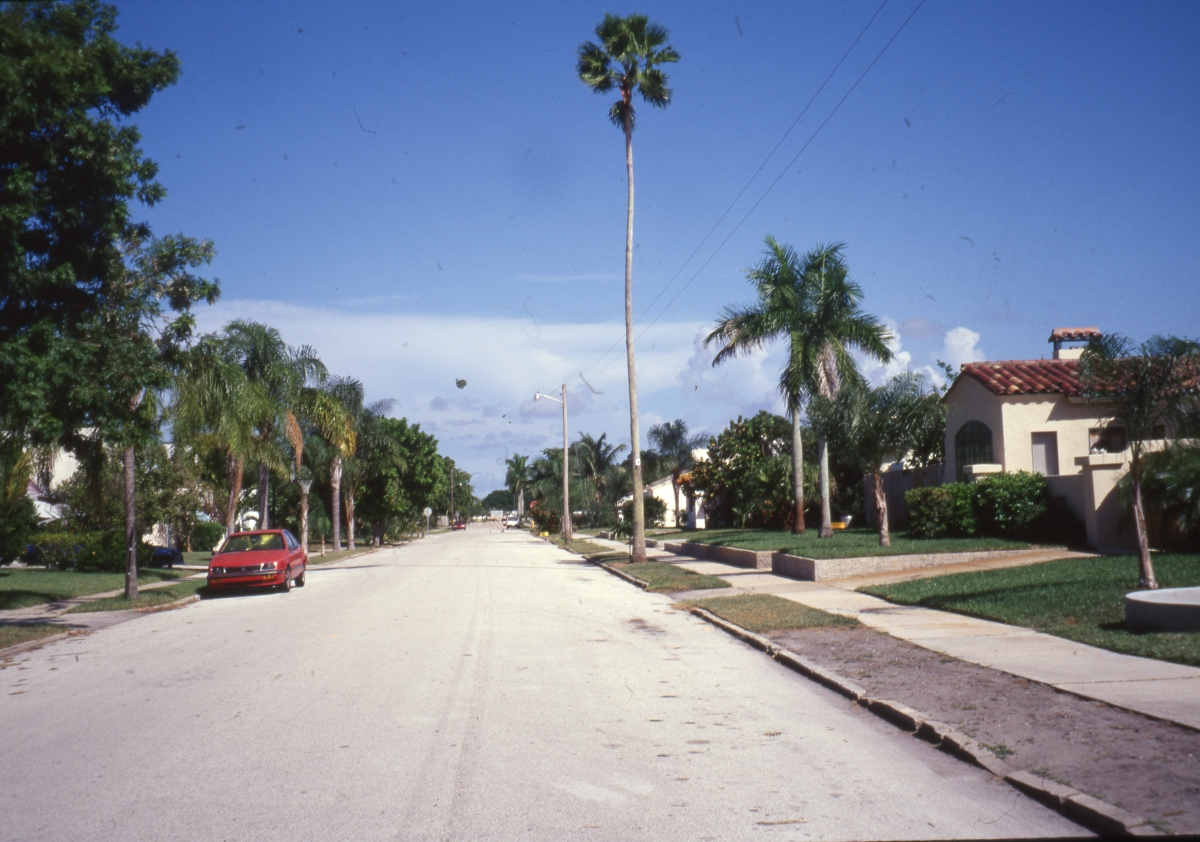 Photographs of the College Park Historic District in Lake Worth.