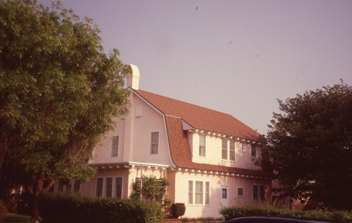 Two-story house in the College Park Historic District of Lake Worth.