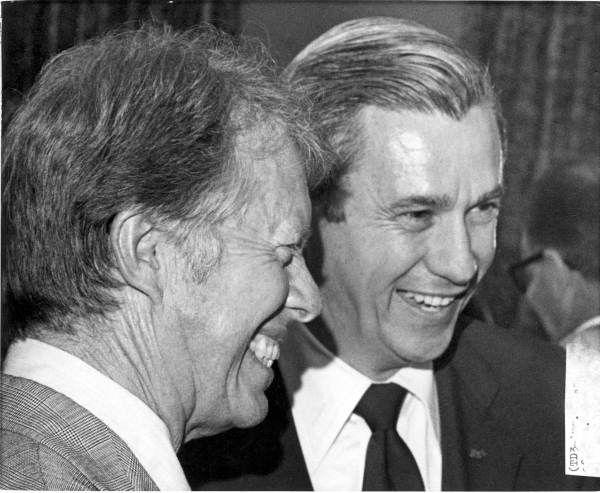 Presidential candidate Jimmy Carter and Florida Governor Reubin Askew.