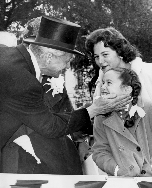 LeRoy Collins and his daughters at his inauguration to be Florida Governor.