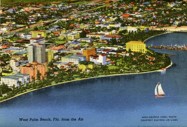 West Palm Beach, Fla. from the air.
