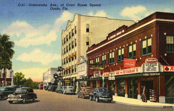 Ocklawaha Ave., at Court House Square - Ocala, Fla.