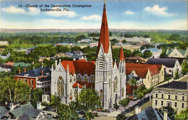 Florida Memory Church Of The Immaculate Conception Jacksonville