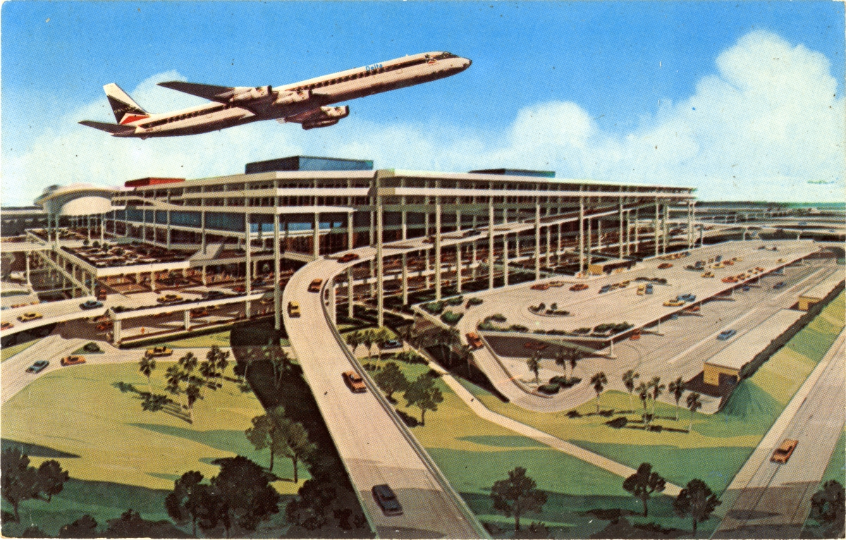 Architectural rendering of the new Tampa International jetport terminal.