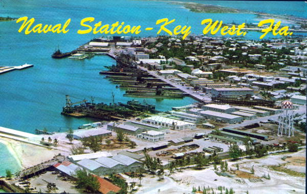 Aerial View of the Naval Station in Key West - Key West, Florida .