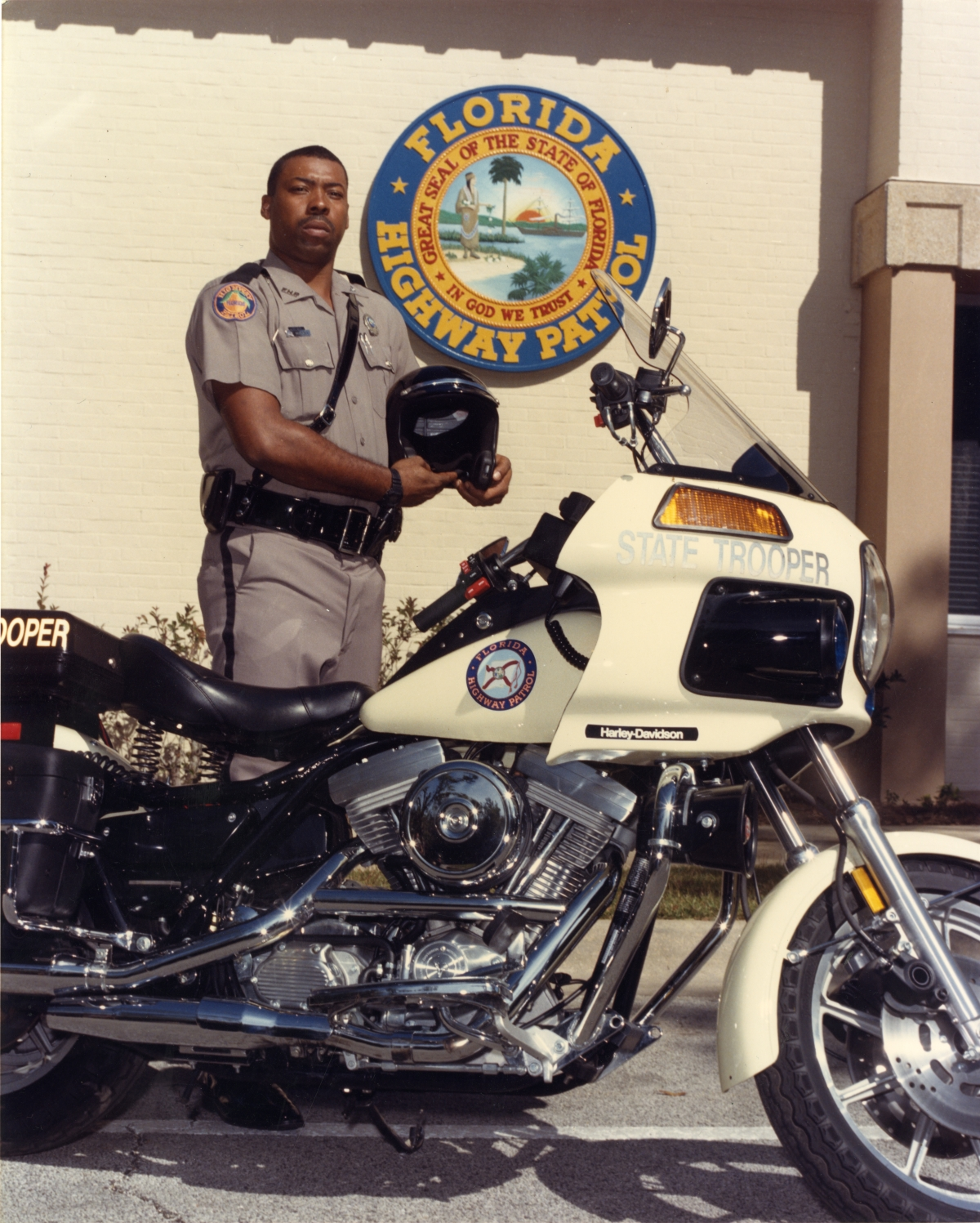 Florida Highway Patrol State Trooper With