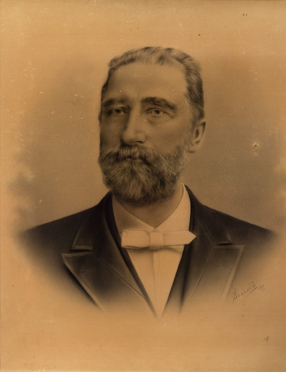 Portrait of Jesse T. Bernard, commissioner to the World's Columbian Exposition from Florida in 1893.