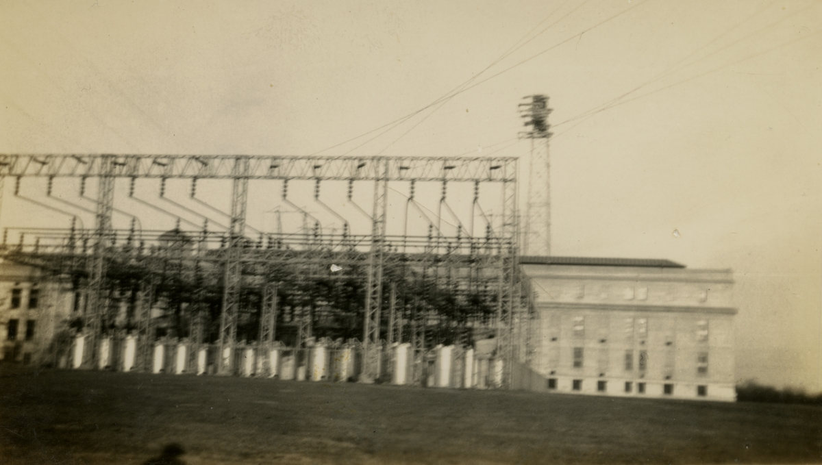 Electric power-plant shown during Central Florida vacation of the Hall family from Michigan.