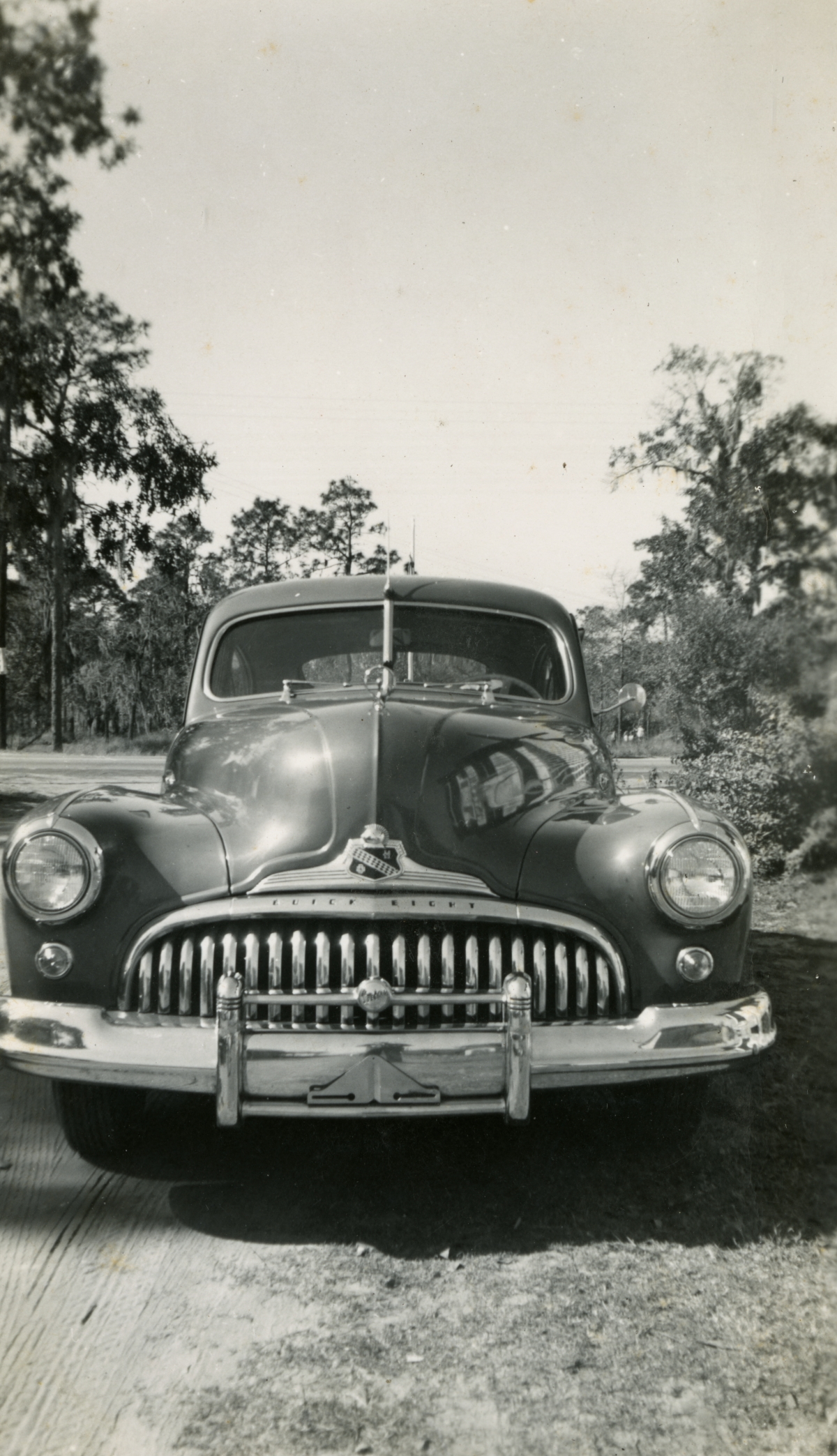 Front of 1947 Buick eight special sedanette shown during Central Florida vacation of the Hall family from Michigan.