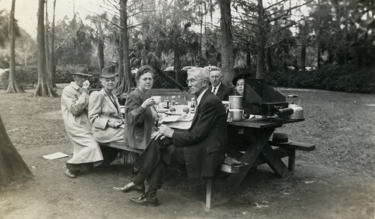 Hall family from Michigan picnicking during their Central Florida vacation.