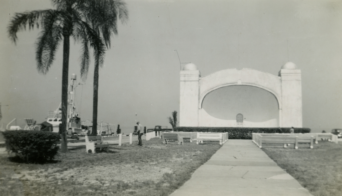 Amphitheater in Sanford shown during Central Florida vacation of the Hall family from Michigan.