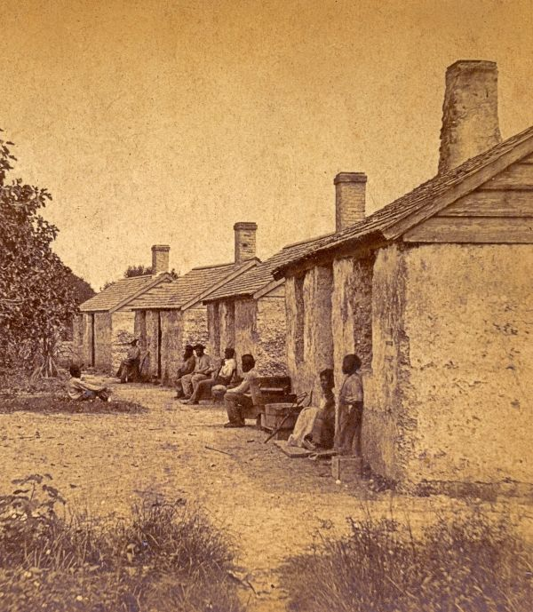 Quarters for former slaves, made of tabby concrete, at the Kingsley Plantation on Fort George Island in Jacksonville.