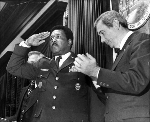 "General Daniel ""Chappie"" James saluting Florida House of Representatives."