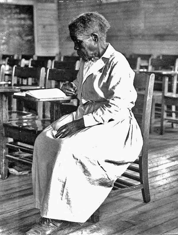 Oldest member of an adult education class : Pensacola, Florida (1935)
