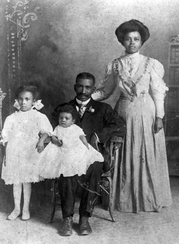 Portrait of an African American family - Gainesville, Florida.
