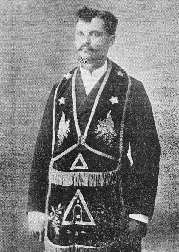 Grand master of Florida Freemasons, John H. Dickerson - Jacksonville, Florida.