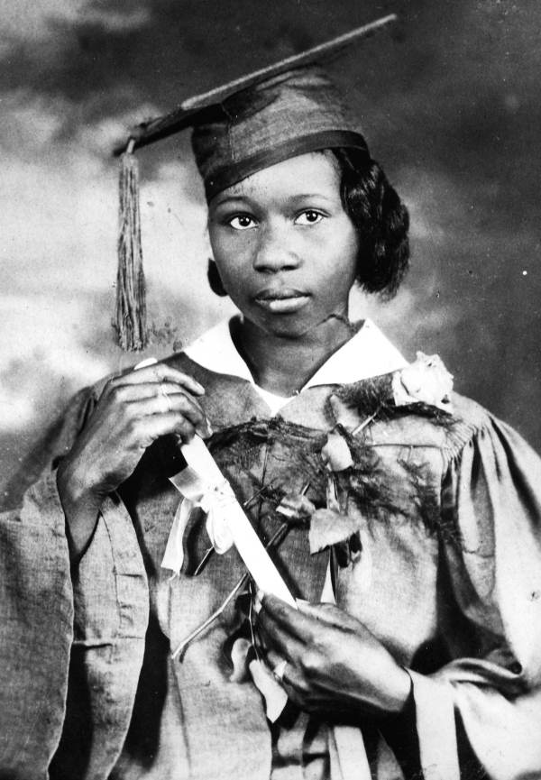 Eva Cobb Rosier's high school graduation picture.