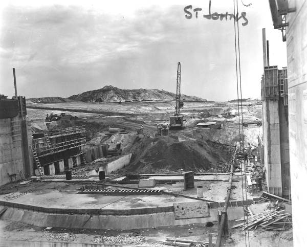 St. Johns Lock construction.