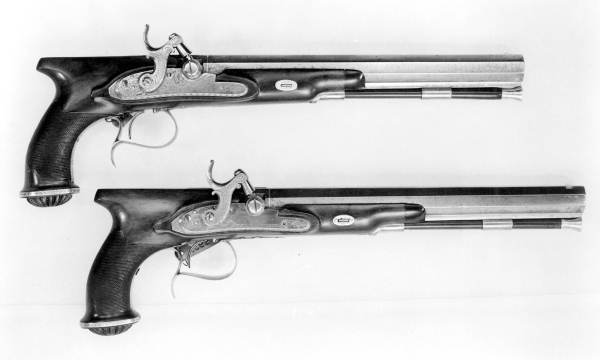 English dueling pistols used in the Senator William White, Abraham Bellamy duel
