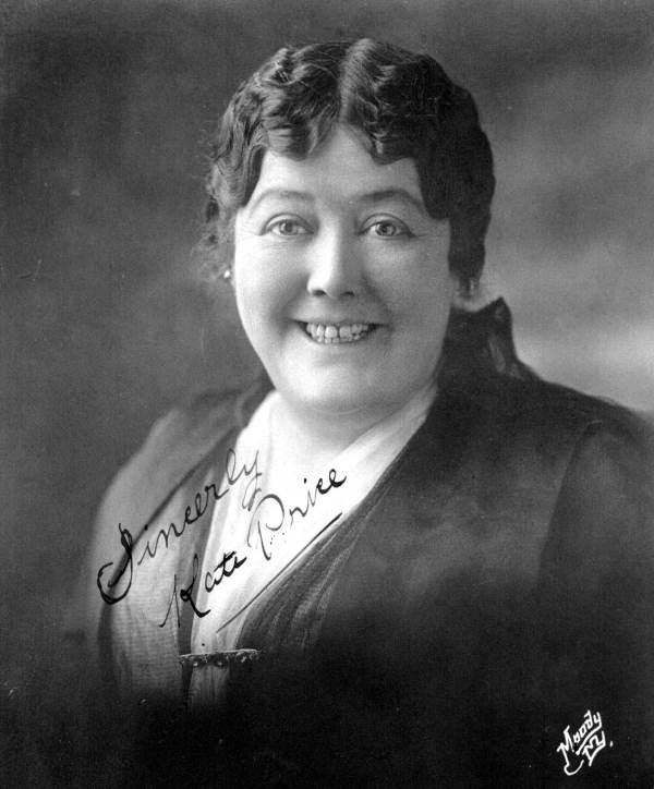 Portrait of Kate Price.