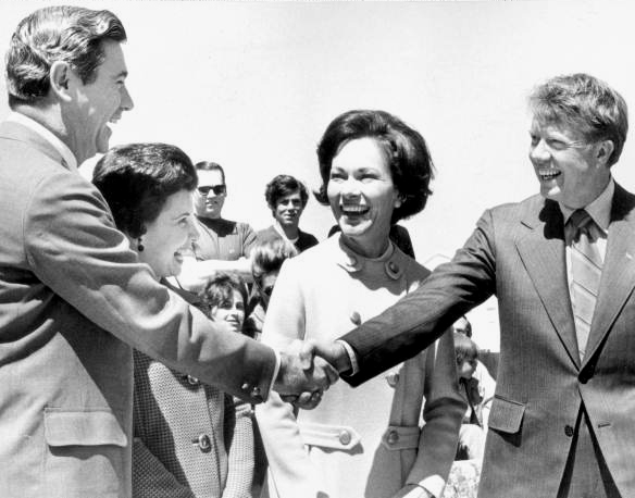 Jimmy Carter and wife with Reubin Askew and his wife.