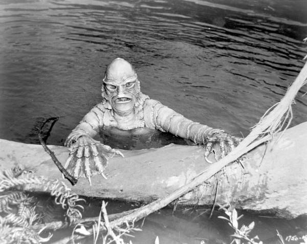 "Still from the ""Creature from the Black Lagoon""."