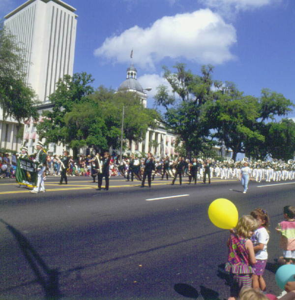 Parade in front of the Capitol : Tallahassee, Florida.