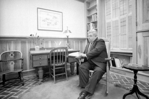 Malcolm Johnson in his office.