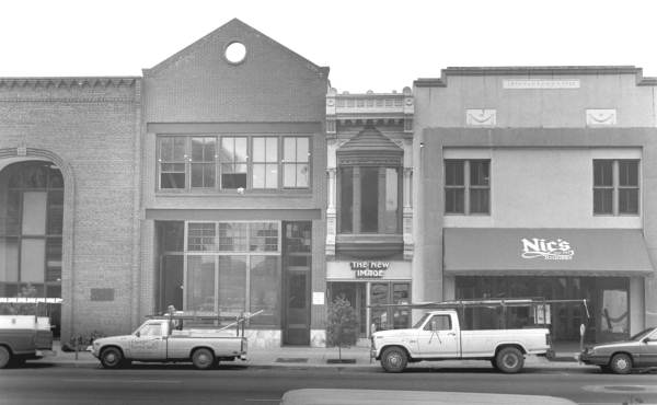 View of Monroe Street businesses - Tallahassee, Florida.