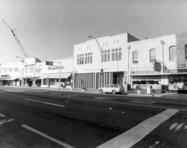 Monroe Street businesses - Tallahassee, Florida.