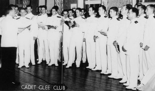 Cadet glee club of the Naval Air Station in Jacksonville.