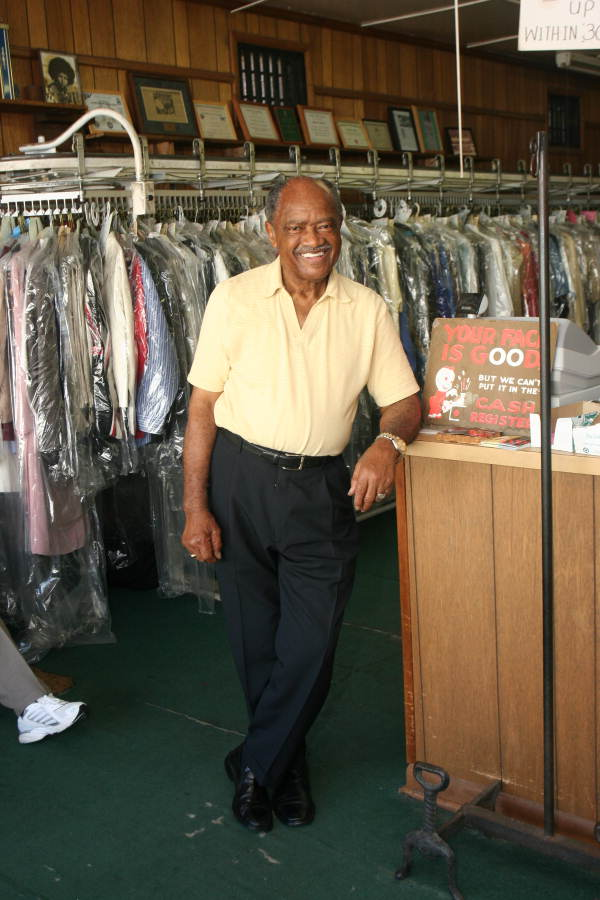 Portrait of Randolph's Alterations, Dry Cleaners and Laundry store owner Eddie Randolph in his business at 615 Fourth Avenue - Tallahassee, Florida..