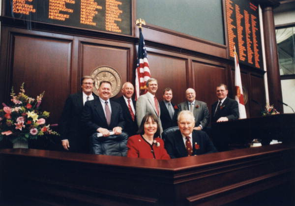 Former Republican leaders assembled with House Speaker Tom Feeney for a group portrait.
